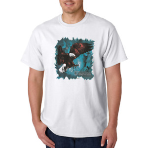 Wait upon the Lord EAGLE wingspan Christian HoneVille T-shirt Adult Youth