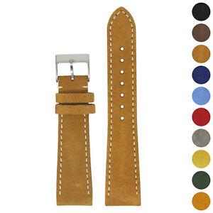 StrapsCo 22mm Suede Smart Watch Band Strap (Short, Standard, Long)