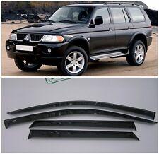 For Mitsubishi Pajero Sport 1998-07 Window Visors Sun Rain Guard Vent Deflectors