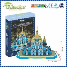 Ukraine Buliding model St. Michael's Cathedral from bell tower 3D puzzle model