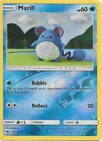 MARILL 34/147 S&M Burning Shadows Reverse Holo Pokemon Card  MINT