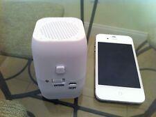 "New White Wireless Bluetooth Speaker Mini 3.5""x2 "" Size Big Sound Rechargeable"