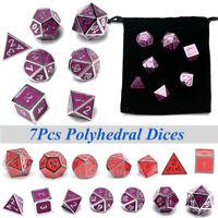 7pcs Metall Polyhedral Würfel für Dnd RPG MTG Spiel Dungeons & Dragons