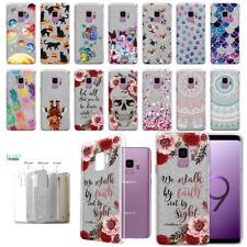 "For Samsung Galaxy S9 5.8"" Design Slim Sparkling Silver TPU Silicone Case Cover"