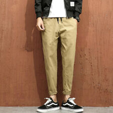Pocket Solid Color Ninth Pants - Khaki