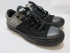 CONVERSE ALL STARS Black/Tweed Sneakers Women's Size 6.5 Medium EUC