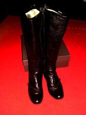 Sexy Bronx Stivali Di Pelle Vera Pelle Nero Mis. 39 Boho blogger merce nuova! Top!