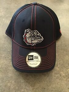 New Gonzaga Bulldogs New Era  Stretch Flex Fit Mesh Back Cap Hat M/L