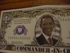 WHOLESALE LOT of 100 OBAMA FAKE MILLION DOLLAR BILL MONEY President USA Mint