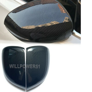 2PCS Carbon Fiber Look Dipping Rearview Side Mirror Covers Cap FOR 18-21 W177