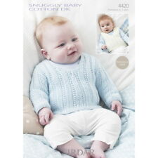 Sirdar Knitting Pattern - 4420 - Tank and Sweater - Snuggly Baby Cotton DK