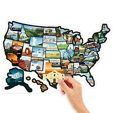 See Many Places RV State Stickers United States Travel Camper Map RV Decals f...