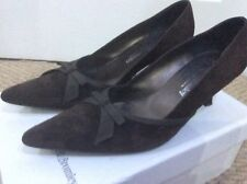 RUSSELL AND BROMLEY. BROWN  SUEDE. KITTEN HEEL COURT SHOES. SIZE 4.5   EUR 37.5