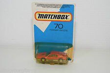 MATCHBOX 70 FERRARI 308 GTB 308GTB RED MINT BOXED ON RARE CARD.