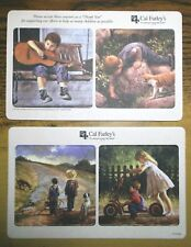 "Set of 4 Un-Used Cal Farley's Coasters Cardboard, 3-5/8"" Americana Children NICE"
