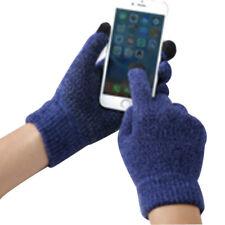 Men Touch Screen Warm Mittens Anti-Skid Soft Warm Thicken Long Finger Gloves
