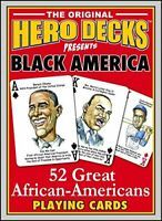 Hero Decks Black America Playing Cards Deck of 52 Cards Made in USA.