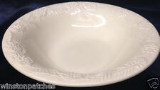 """SONOMA HOME GOODS SOG2 9 1/2"""" PASTA OR SOUP BOWL EMBOSSED PINES CONES ALL WHITE"""