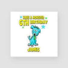 Personalised Handmade 6th Birthday Card Monster Sixth Son Nephew Grandson Alien