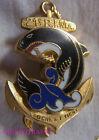 IN7736 - INSIGNE 21° Régiment d'Infanterie de Marine, vague bleue, dos lisse
