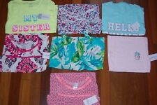 NWT Girls size 5 CARTER'S Spring Summer Lot of 7 Tops Shirts
