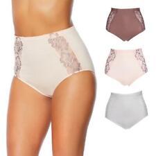 Rhonda Shear Seamless Lace Brief 3-pack-Pink/Mocha/White-Medium-New
