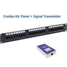 24 Port Cat6 LED Identification Patch Panel Combo UP24-CAT6LED+SIG