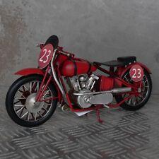 XL Blechmodell Motorrad 28cm rot Metallmodell Rennmaschine Rennsport Oldtimer