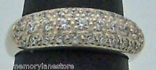 Nice Dainty Estate Cubic Zirconia Sterling Silver Cocktail Band Ring Size 6
