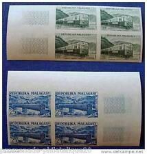 MADAGASCAR timbre-stamp Yvert et Tellier n°360 et 361 non dentelés-Bloc de 4-n**