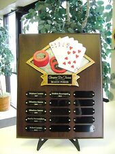15 YEAR PERPETUAL POKER PLAQUE HOLD 'EM CARDS TROPHY