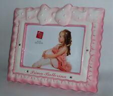 RUSS Berrie Prima Ballerina Pink Ceramic Photo Frame Gift 4x6 inch