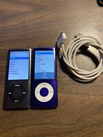 Apple iPod Nano 5th Generation A1320 8GB Purple/ Gray Lot Of 2X