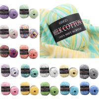 Baby Soft DIY Milky Yarn Knitting Wool Yarn Bamboo Fiber Crochet Line Craft