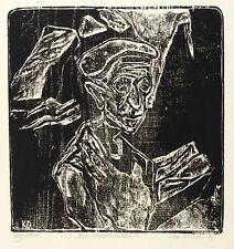 KLAUS DRECHSLER - ALTER STEINBRUCHARBEITER - Holzschnitt 1979