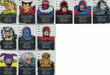 Marvel Avengers Silver Age Classic Villains Complete 12 Chase Card Set