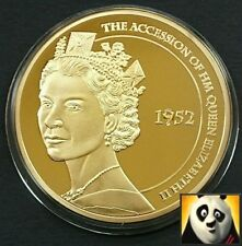 LARGE 2012 50mm DIAMOND JUBILEE Ascension Proof Medal Gold Plated with Gemstone