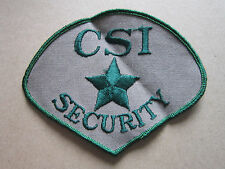 CSI Security Woven Cloth Patch Badge (L1K)