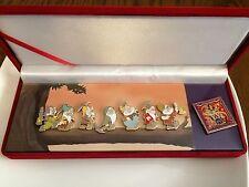 Valentines Disney Snow White & Seven Dwarfs Pin Set Boxed Diamond Collectors Set