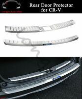 Rear Door Plate Fits For Honda CRV CR-V 2017-2020 Bumper Cover Sill Trim Scuff