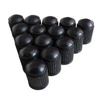 50X Car SUV Black Plastic Wheel Tire Valve 1.3*1Cm Air Dust Cover Stem Cap Black