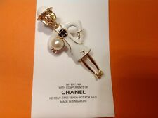New//Auth Rare Chanel Vip Gift Coco perfume brooch pin in white!!!!!!