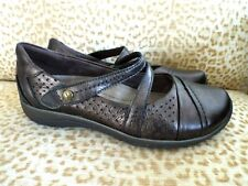 ***EARTH Sz 7D leather COMFORT LOAFERS bronze!!