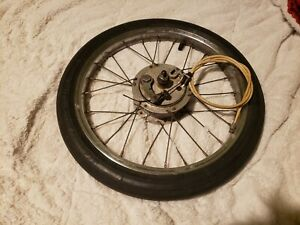 68-73 Schwinn Krate Atom Drum Front Wheel And Tire