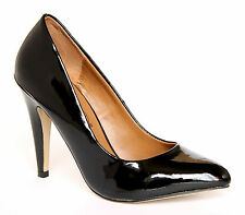 Timeless Osrane Women's UK 3 Black Patent High Heel Brand New Court Shoes