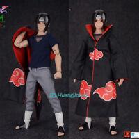 9L YOUYOU 12'' Naruto Uchiha Itachi Action Figure Akatsuki Cloak movable Eye New