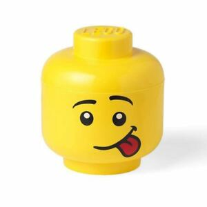 LEGO LARGE STORAGE HEAD SILLY FACE FOR BRICKS TOYS KIDS