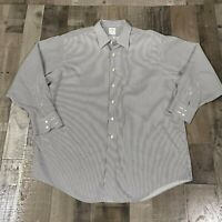 Brooks Brothers 1818 Mens 18 35 Polo Button Down Dress Shirt Regular Fit Striped