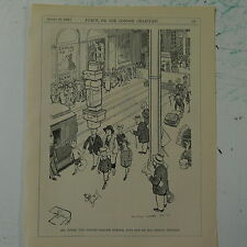 "7x10"" punch cartoon 1925 MR JONES COVENT GARDEN PORTER"
