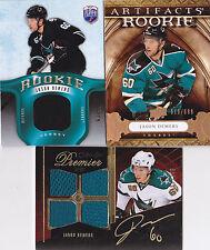 09-10 Artifacts Jason Demers /699 Rookie Sharks RC 2009